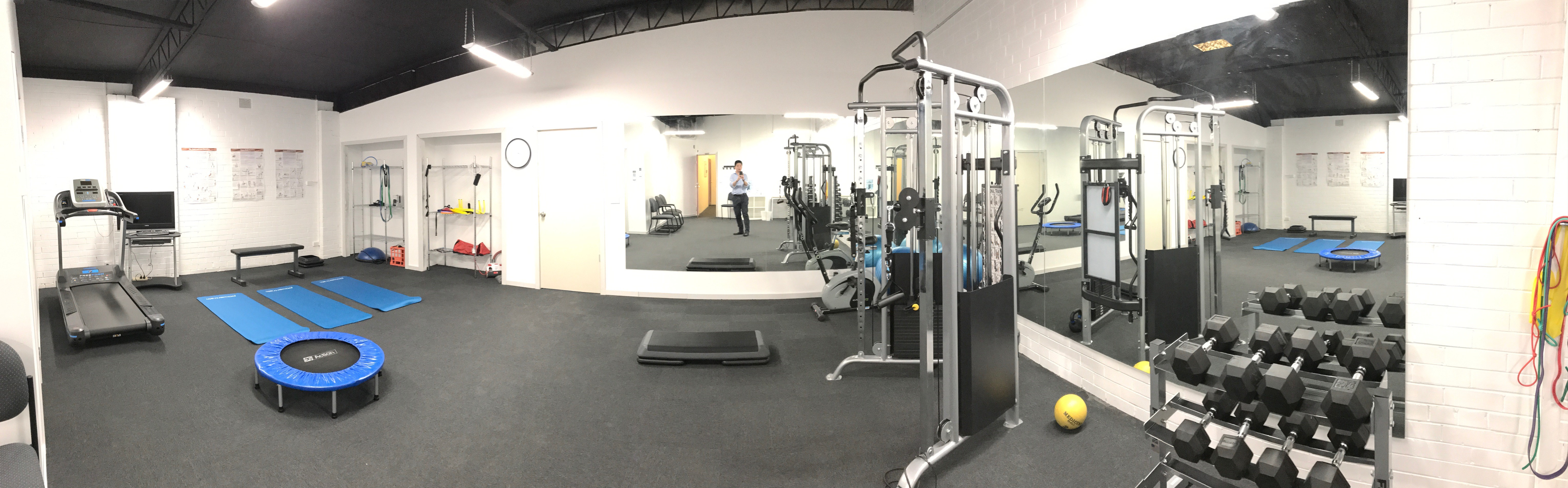 Functional gym and rehabilitation space